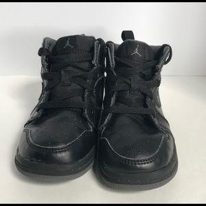Air Jordan Black Leather Sneaker size 8C